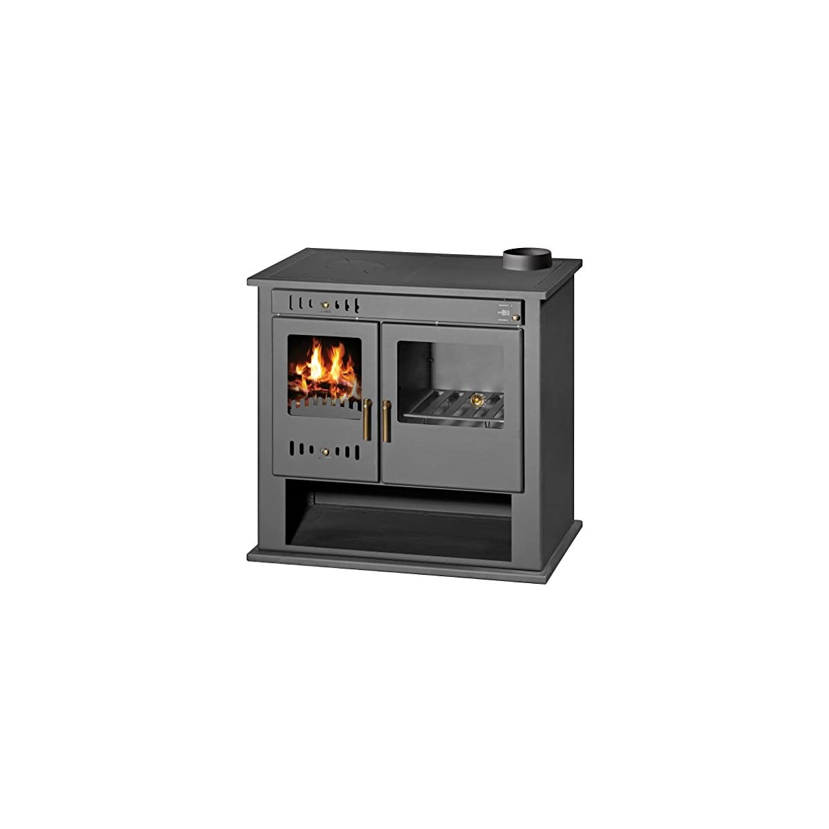 519orpQXw3L. SS1200  - Estufa de leña estufa chimenea para sistema de calefacción central horno cocina combustible sólido 9 KW VICTORIA