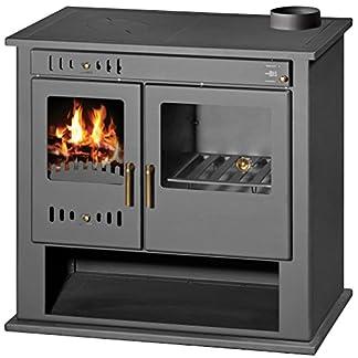 Estufa de leña estufa chimenea para sistema de calefacción central horno cocina combustible sólido 9 KW VICTORIA