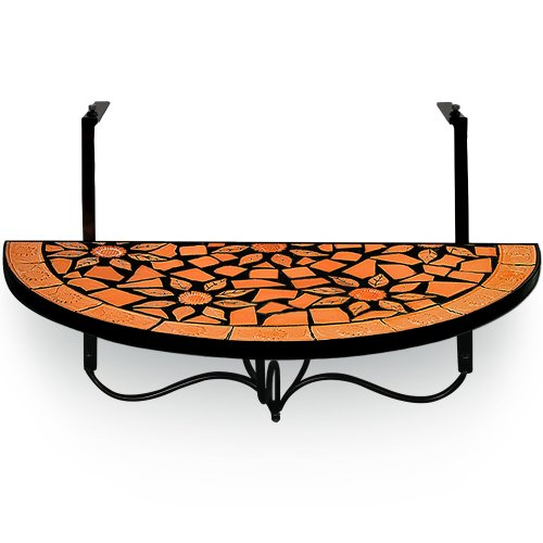 Deuba Balcony table mosaic hang table mosaic garden table dining tables hanging tables folding table