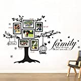 Walplus Wand Sticker Deko Papier Kunst Foto Rahmen Vogelkäfig Family Zitat