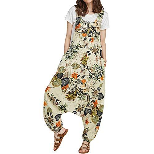 STRIR Mujer Baggy Peto Pantalones Largos