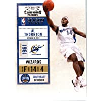 2010 11 Playoff Contenders Plates & Patches Basketball Card # 98 Al Thornton Washington Wizards In a