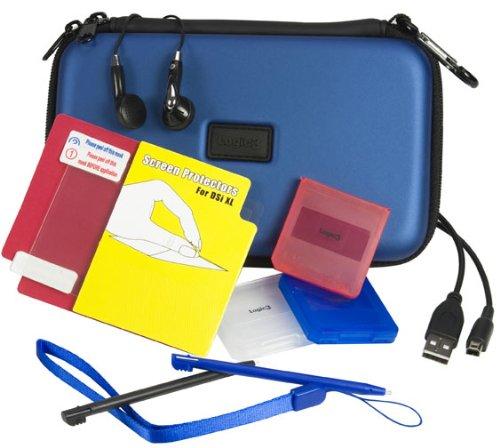 DSi XL Starter Pack blau Case Logic Kit