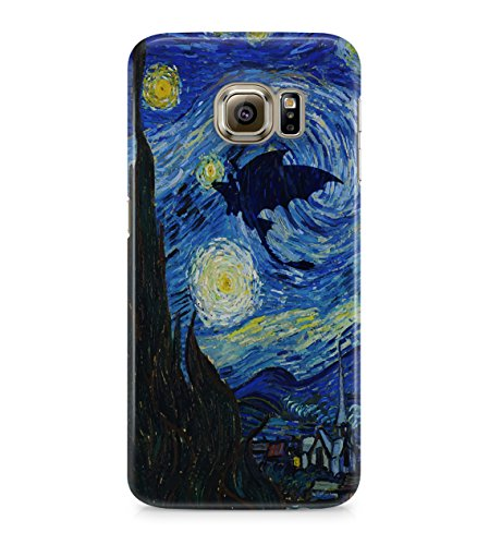 How To Train Your Dragon Toothless Night Fury Starry Night Hard Plastic Snap On Back Case Cover For Samsung Galaxy S6 (Not Edge)
