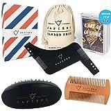 Bartpflege-Set von Sapiens: Bart-set für männer mit Bartbürste, Bartkamm und Bart Schablone + Ebook angeboten