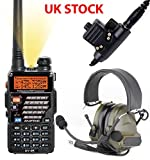 AIRSOFT GIFT SET KIT 2 WAY RADIO BAOFENG UV-5R HEADSET PELTOR SORDIN COMTAC GREEN PTT
