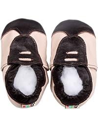 LSERVER Chaussures Bébé en Cuir Souple Premiers Pas Chaussons Semelle Douce