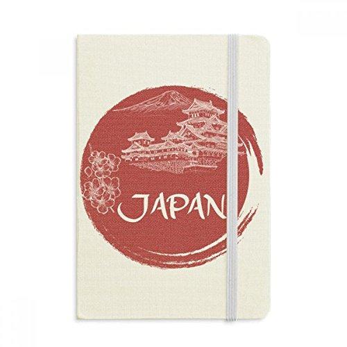 DIYthinker Japan National Temple Rosso Bandiera Taccuino Tessuto Copertina rigida Diario della rivista classica A5 A5 (144 x 210mm) Multicolore