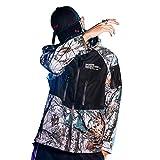 Biback - Vêtements Homme Herren Jacke Winddicht, Camouflage, Marmor, Multifunktions-Jacke mit Kapuze, Running, Geschenk für Neujahr, für Männer/Jungen/Universität XL/Longeur 72