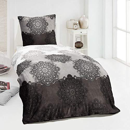 MALIKA Winter Plüsch Bettwäsche Nicky-Teddy Cashmere Coral Fleece 135x200 155x220 200x200 Kissenbezu 80x80, Design - Motiv:Design 3, Größe:155 x 220 cm