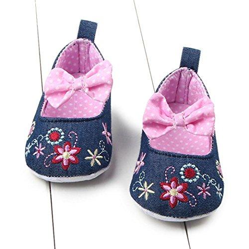 Hunpta Neue jungen Lauflernschuhe Kleinkind Mädchen weichen Sohle Krippe  Schuhe Sneaker Babyschuhe 11, Rosa Rosa
