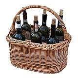 GalaDis Flaschenkorb geflochten aus Weide für 6 Flaschen Wein/Zubehör Vergleich