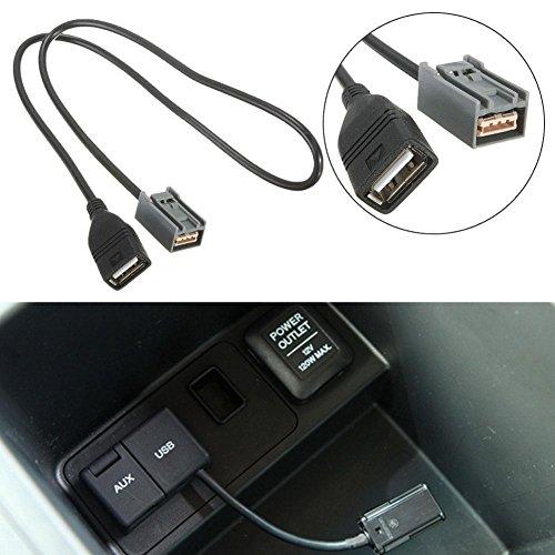 Accord-kabel (rungao 63cm AUX USB-Kabel Adapter Female Port für Honda Civic Jazz CR-V ACCORD Stereo MP3)