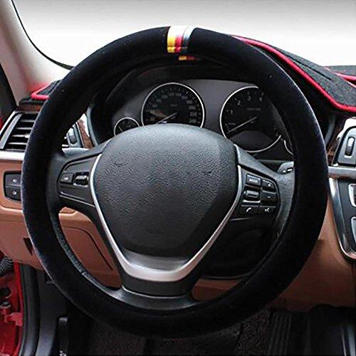MIAO Couverture de volant de voiture, diamètre 38cm général hiver anti-dérapant chaud peluche voitures Housse de Volant, adapté pour BMW / Audi / VW / Mercedes Benz, etc. , G