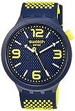 Swatch Reloj Analógico para Hombre de Cuarzo con Correa en Silicona SO27N102