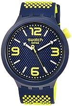Swatch Hommes Analogique Quartz Montre avec Bracelet en Silicone SO27N102