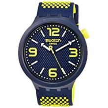 Swatch Mens Analogue Quartz Watch with Silicone Strap SO27N102