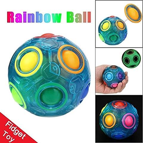 Leuchtend Magie Regenbogen Ball HARRYSTORE Stress Entschuldigen Spaß Würfel Zappeln Puzzle Bildung Spielzeug Zum Kinder / Erwachsene