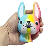 YUYOUG_Squishy Jumbo Cartoon Long Ears Dog Scented Cream Slow Rising Squeeze Stress Relief Decompression Toys /Collections/Cellphone Straps Gift for Children Adult- 12*8*7cm
