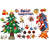 prettygood7 - Adhesivo Decorativo para Pared de Navidad, diseño de Papá Noel, Ideal para Regalos, árbol o Ventana