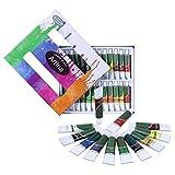 Artina Set da 24 Colori acrilici Crylic da 12ml - Alta pigmentazione Colori intensi - per artisti Accademia Belle Arti