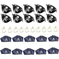 Set de parche, pañuelo y pendiente de pirata, 30 pz.