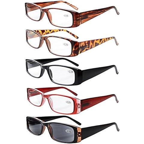 Eyekepper 5-Paia cerniere a molla Rettangolare occhiali