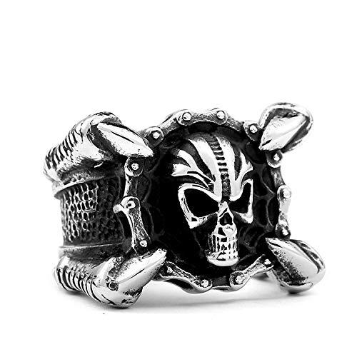 YBMEN Schädel Ring Partei Bevorzugungen Titan Ringe Unisex Dragon Claw mit Schädel Ring