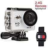 Action Sports Camera Sport DV Wasserdicht Handgelenk Fernbedienung – Full HD 1080p Wifi Sport...