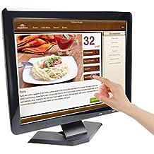 Monitor Toguard de 15 Pulgadas Pantalla LED Ultra Delgada HD 1024*768 con Lápiz Monitor de Vídeo con Entradas BNC/AV/HDMI/VGA/USB, Salida de Auriculares, para Sistema de Seguridad PC.