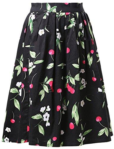 Grace Karin CL6294 - Falda para mujer, estilo vintage de años 50, altura de la rodilla