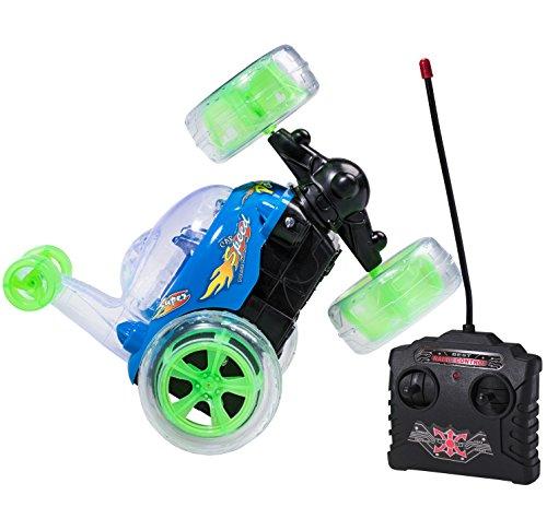 Top Race RC Remote Control Car Cyclone Twister RC giocattolo per bambini Stunt Car con luci a LED e suono musicale - 49 MHz