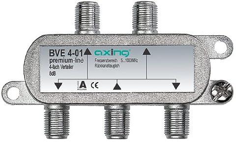 Axing BVE 4-01 4-way Splitter for CATV DVB-T (5-1006 MHz)