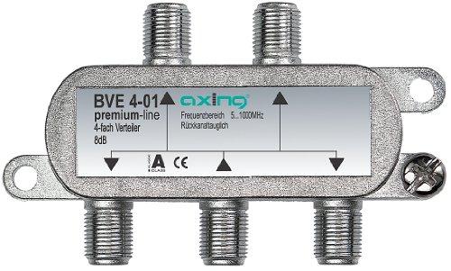 Axing BVE 4-01 4-fach BK-Verteiler mit abnehmbarem Montagesockel