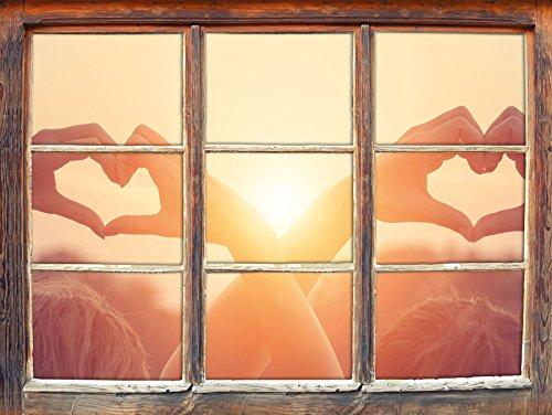 deux-filles-montrent-motif-de-coeur-au-coucher-du-soleil-fenetre-en-3d-look-mur-ou-format-vignette-d