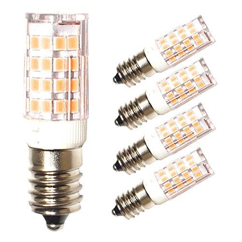 Lampaous LED E14 Lampe 5W, ersatz für 40W Glühbirne, 2700K Warmweiss, 360°Abstrahwinkel, LED Maiskolben- Lampen Birne für Dunstabzugshaube, Tischlampen, Deckenlampen, Hängendes Licht, 4er Pack (Led Maiskolben-lampe)