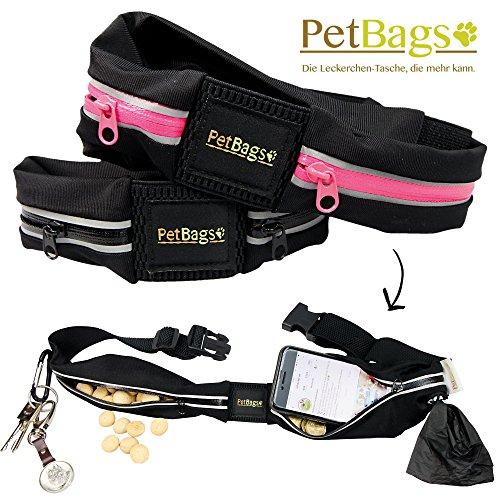 PetBags Classic Pro die elastische Leckerlitasche aus wasserabweisenden Lycra Material, schwarz (Auslaufmodell) - Geld Nehmen Frauen Ihr