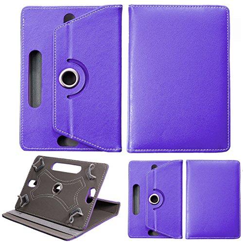 Universale 20,3cm tablet, supporto multiangolare stampato portafoglio custodia fits all 20,3cm pollici, apple, samsung, sony, huawei, lenovo, acer, toshiba tab tablet android dispositivi viola purple universal 10.1