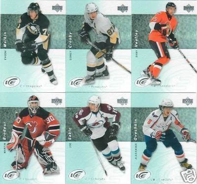 2009 / 2010 Upper Deck Ice Hockey Series Complete Mint 100 Card Set Including Sidney Crosby, Evgeni Malkin, Jordan Staal, Martin Brodeur, Alexander Ovechkin, Mike Richards, Carey Price, Steven Stamkos, Jonathan Toews, Roberto Luongo, Patrick Kane and Others! by Upper Deck