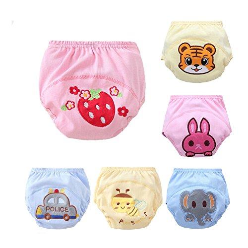 CuteOn 6 Pacchetto Pantaloni della Ragazza del Neonato Pee Potty Training Pannolino Set 100cm
