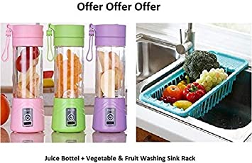 Dealcrox Multifunction 380ML Mini USB Electric Fruit Juicer CUP Rechargeable Smoothie Maker Blender Drink Bottle