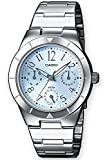 Casio Damen-Armbanduhr Analog Quarz Edelstahl LTP-2069D-2A2VEF