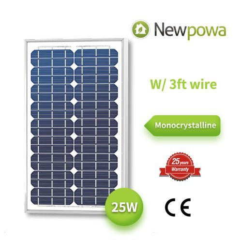 25Watt Monokristallines newpowa Hohe Qualität 12V Mono Solarmodul 20W < 25W < 30W RV Marine Boat Off Grid