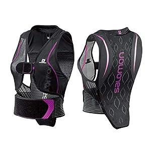 Salomon Damen Flexcell Women Ski-Rückenprotektor, Verstellbar, MotionFit-Technologie, Atmungsaktives Mesh-Material, schwarz/violett, L39139200