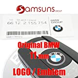 BMW echte Schlüssel Logo Designerwaage abgerundeter Badge Emblem Decal 11mm (66122155754) (Kleber ist nicht enthalten)