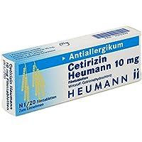 Preisvergleich für Cetirizin Heumann 10 mg, 20 St. Filmtabletten