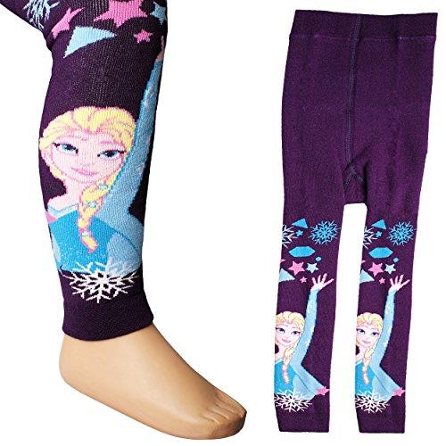 Strick Leggings - wärmend - ' Disney die Eiskönigin / Frozen ' - Größe 5 bis 7 Jahre - Gr. 122 / 128 __ 80 % Baumwolle - Thermo...