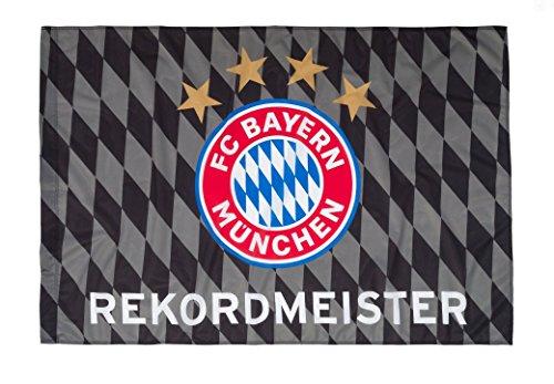 FC Bayern München Fahne Rekordmeister 150 x 100 cm (Fahne Fcb)