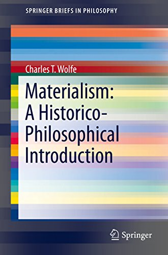 Materialism: A Historico-Philosophical Introduction (SpringerBriefs in Philosophy) (English Edition) eBook: Charles T. Wolfe: Amazon.es: Tienda Kindle