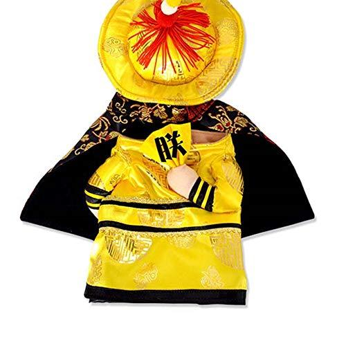 Hunde Kostüm Sandy - lightclub Halloween-Kostüm für Hunde und Katzen, chinesischer Kaiser, XL, 2#